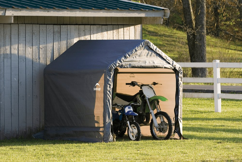 Portable Motorcycle Shelter : Shelterlogic shed in a box™ shelter