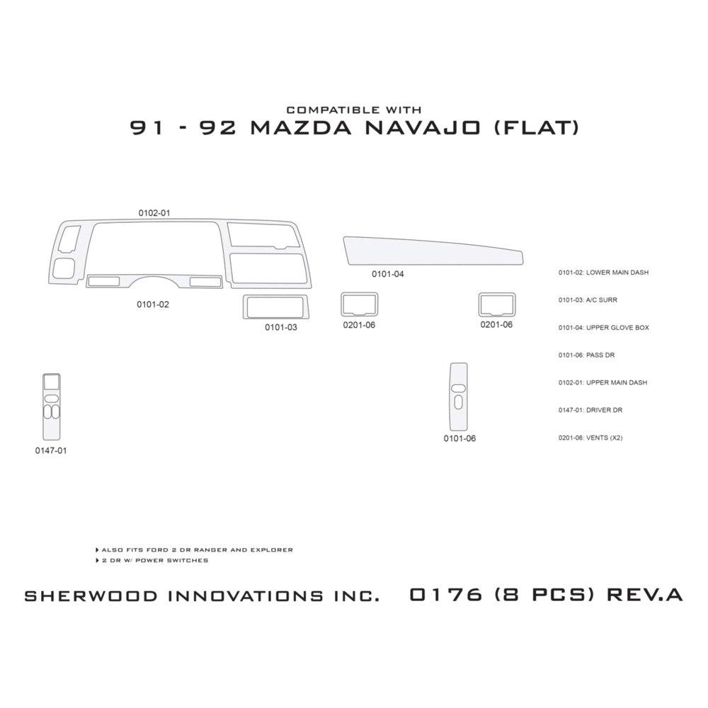 Sherwood ford ranger 1992 2d standard dash kit sherwood 2d standard dash kit biocorpaavc