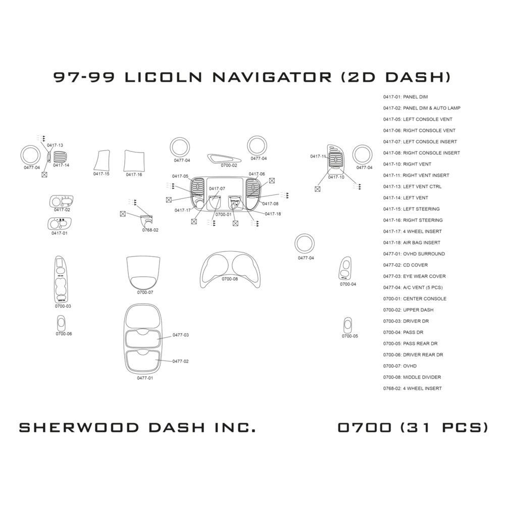 1999 Lincoln Navigator Interior: Lincoln Navigator With Overhead Console 1999