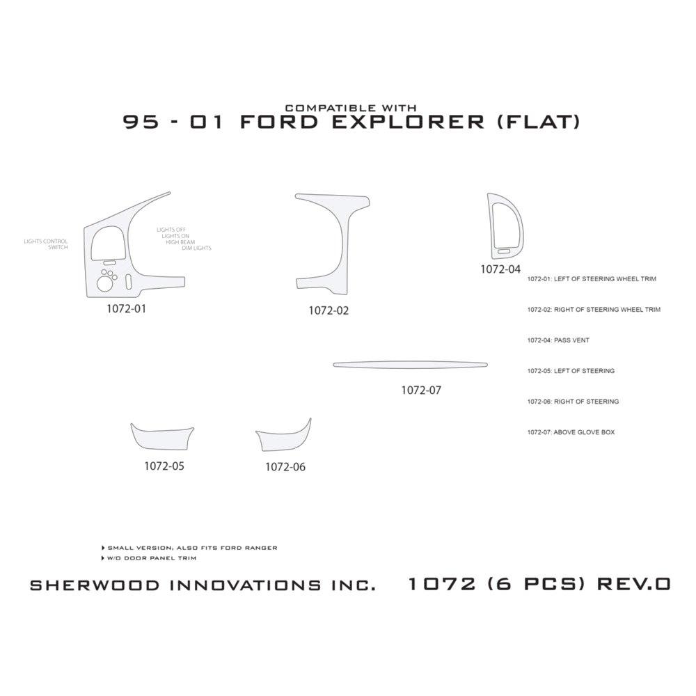 Sherwood ford ranger ev with lights control 2000 2d standard sherwood 2d standard dash kit biocorpaavc