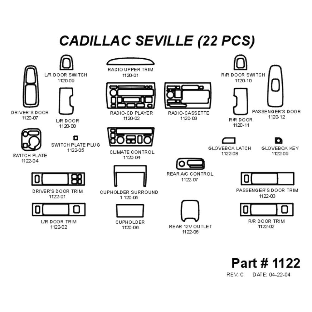 Cadillac Seville W/O Navigation System Radio