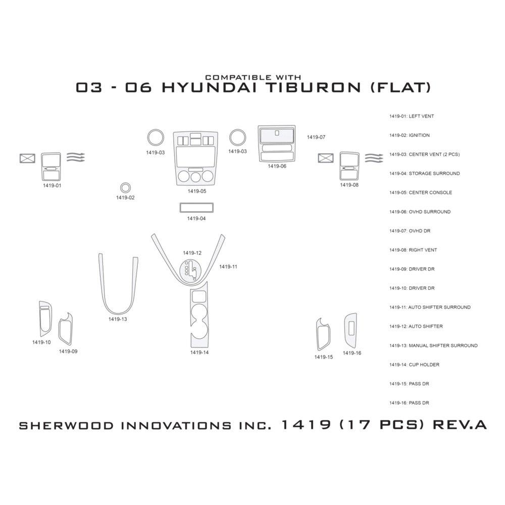 Sherwood Hyundai Tiburon Automatic Transmission Standard Manual Transmission 2003 2006 2d