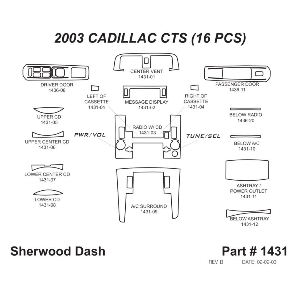 Sherwood Cadillac Cts 2003 2d Standard Dash Kit Factory Wiring Diagram