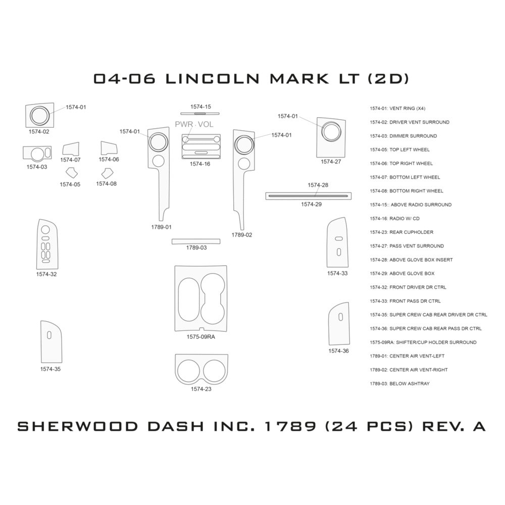 Sherwood Lincoln Mark Lt Radio With Cd Automatic Transmission. Sherwood 2d Standard Dash Kit. Lincoln. 2006 Lincoln Mark Lt Dashboard Diagram At Scoala.co