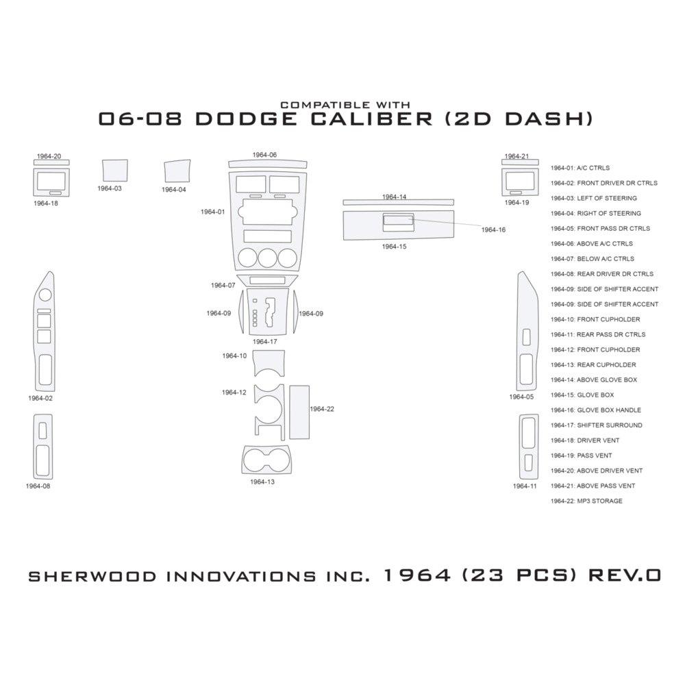 Sherwood Dodge Caliber 2007 2008 2d Standard Dash Kit