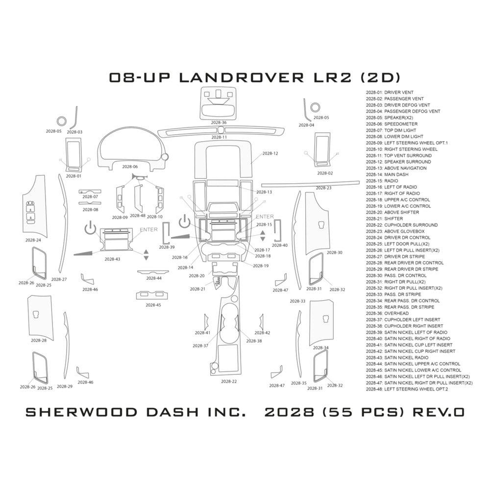 Sherwood Land Rover Lr2 W O Factory Trim 2008 2d Standard Dash Kit 2009 Wiring Diagram