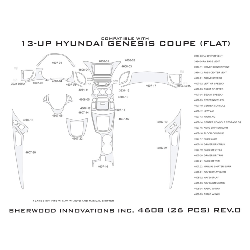 Hyundai Genesis Price Range: For Hyundai Genesis Coupe 13-16 2D Brushed Aluminum