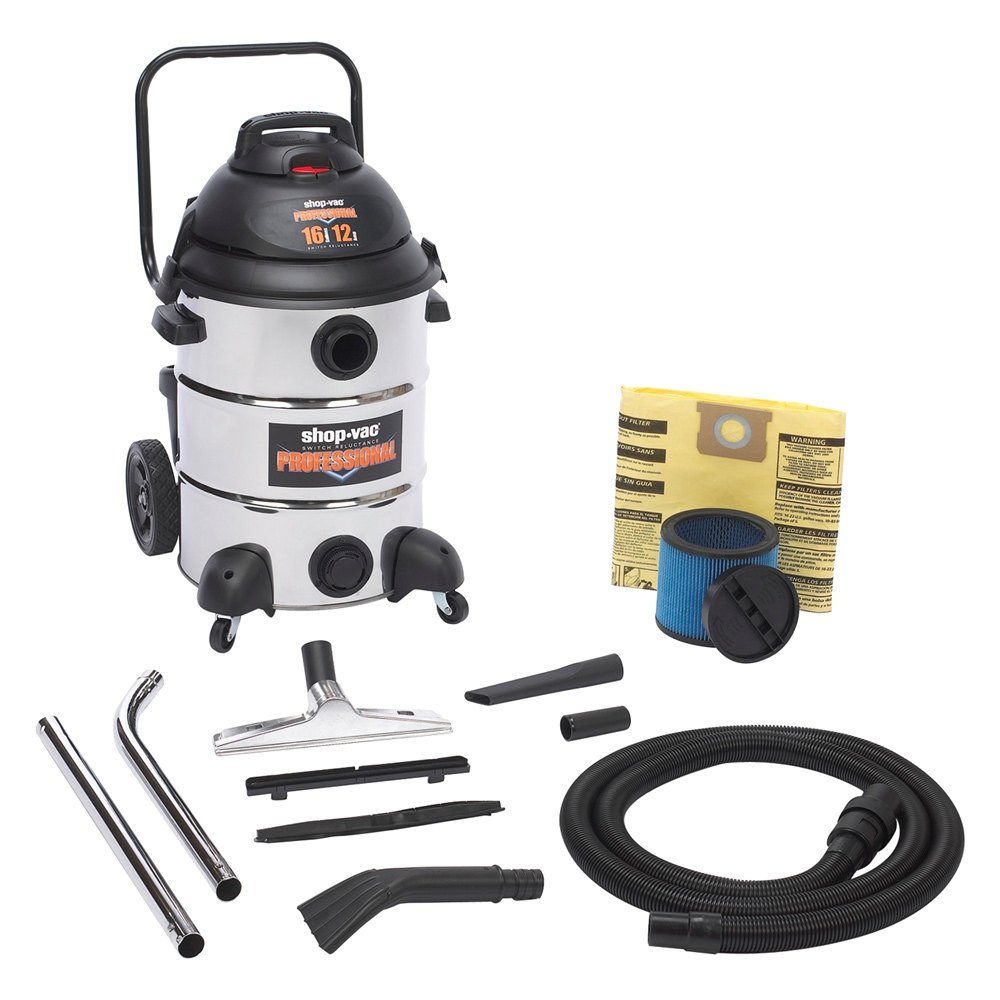 Shop-Vac® 9541610 - 16 Gallon Professional Stainless Steel ...
