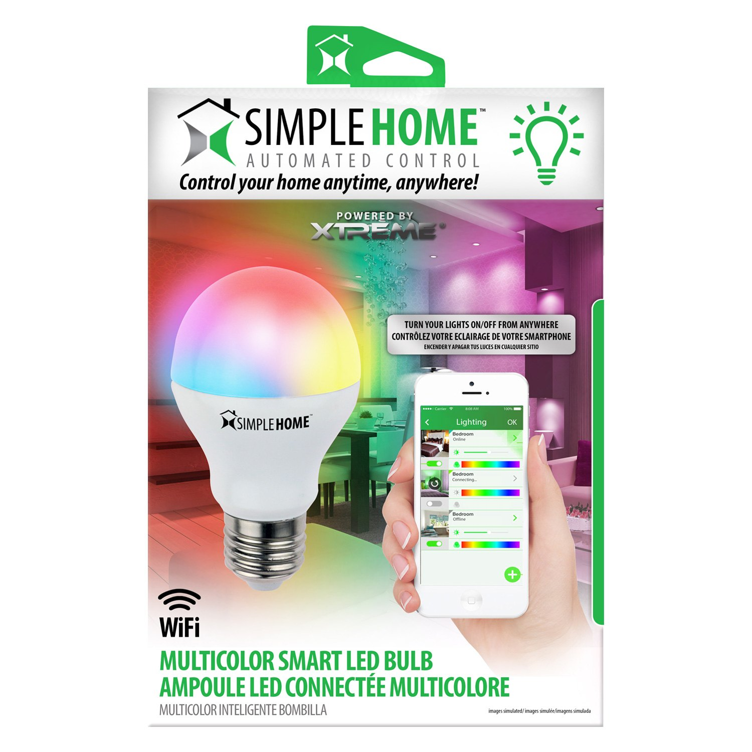Simple home multicolor smart white wi fi led bulb for Minimalist household items