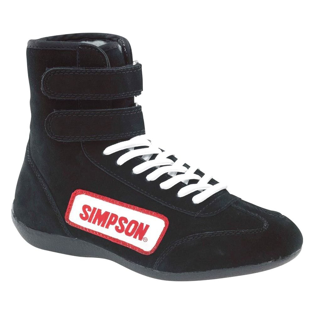 Simpson 174 28140bk High Top Racing Shoes 14 Size Black