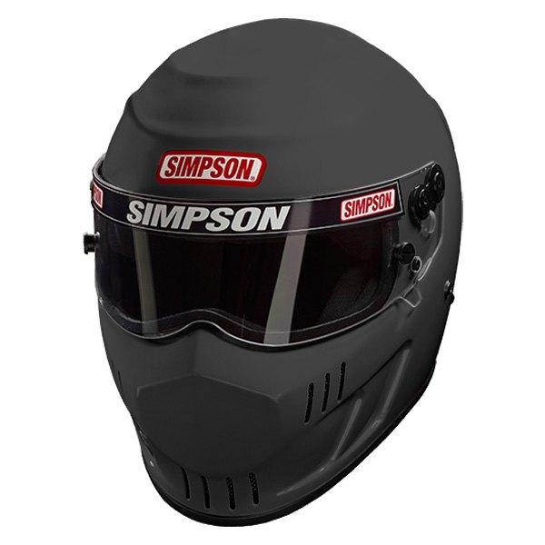 Simpson Racing Helmets >> Simpson Speedway Rx Fiberglass Racing Helmet Flat Black Xl Size