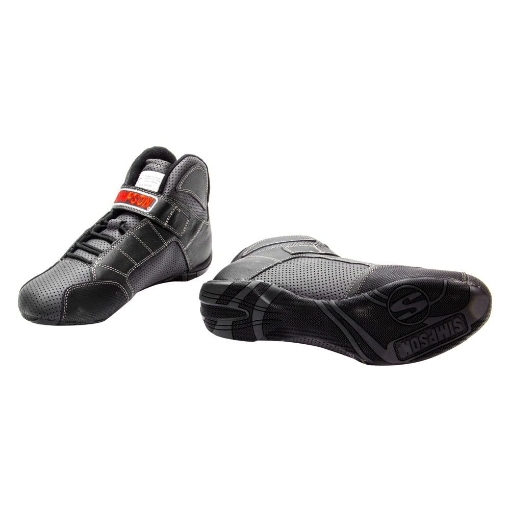 Simpson Racing Shoes >> Simpson Rl650k Red Line Series Racing Shoes 6 5 Size Gray With Black