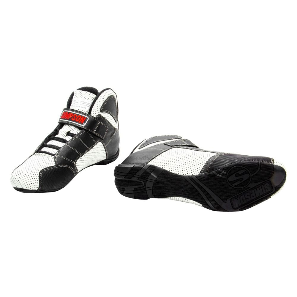 Simpson Racing Shoes >> Simpson Rl135w Red Line Series Racing Shoes 13 5 Size White With Black