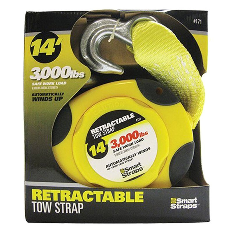 Smartstraps 171 Yellow 14 9000 Lbstractable Tow Strap