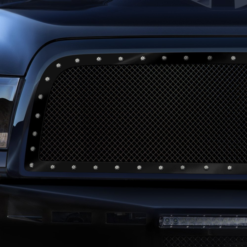 Dodge Ram 1500 Tires >> Smittybilt® - M1 Series Studded Black Mesh Grille