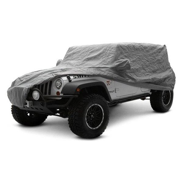 smittybilt jeep wrangler 2007 2017 gray car cover kit. Black Bedroom Furniture Sets. Home Design Ideas