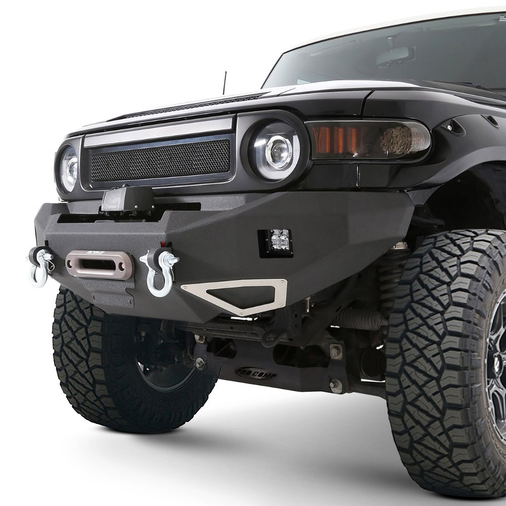 Truck Brush Guard >> For Toyota FJ Cruiser 07-14 Smittybilt M1 Full Width Black Front Winch HD Bumper | eBay