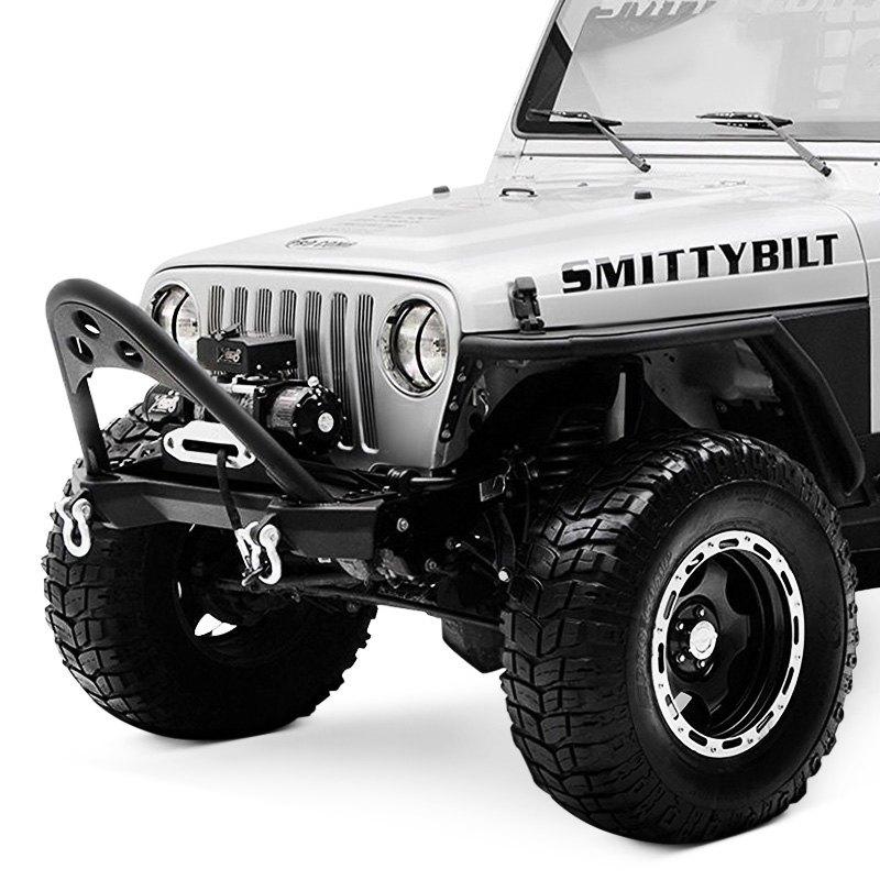 SRC Stubby Black Front Winch HD Bumper