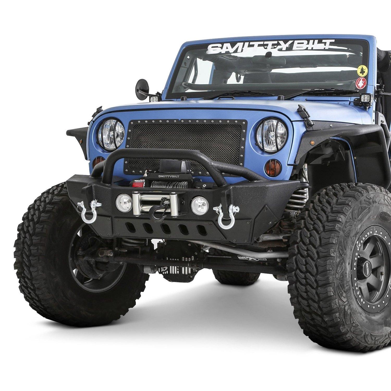 Jeep Wrangler 07-17 Bumper XRC Gen2 Mid Width Black Front
