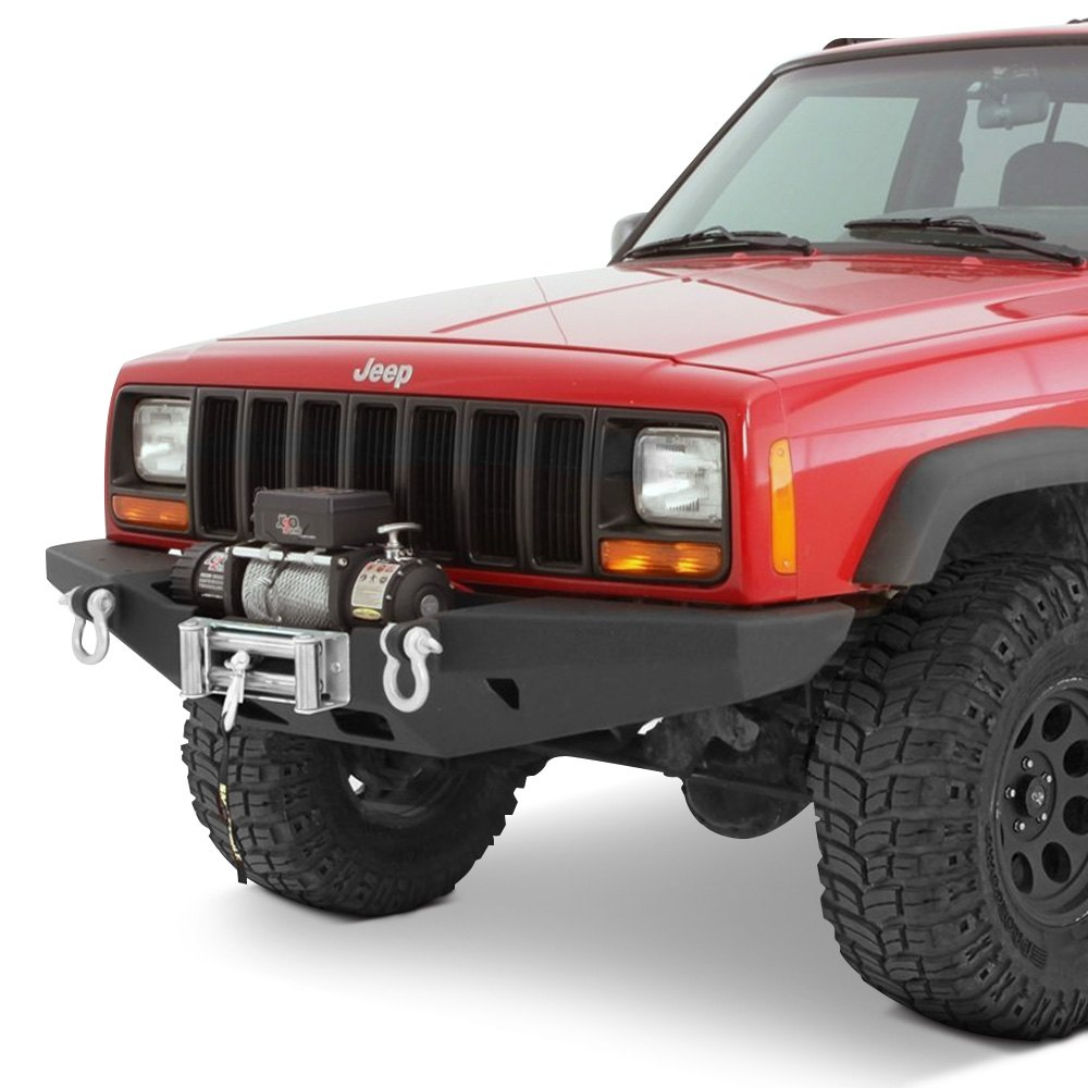 jeep cherokee 1984 2001 xrc full width black front winch hd bumper. Cars Review. Best American Auto & Cars Review