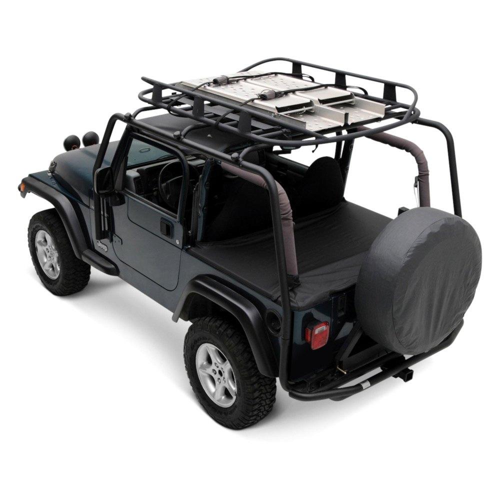 Jeep Wrangler Luggage Rack: For Jeep Wrangler 1997-2006 Smittybilt 76713 SRC Roof Rack
