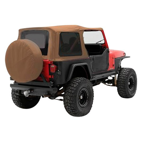 For Jeep Wrangler 87-95 Denim Spice Replacement Soft Top W