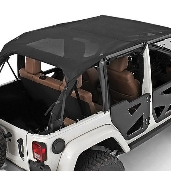 Jeep Wrangler Top Accessories: Jeep Wrangler 2010 Mesh Extended Top