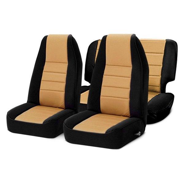 Smittybilt 471525 Neoprene Black Tan Rear Front Seat