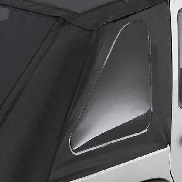 white diamond windows smittybilt 9073235k black diamond bowless combo top kit with