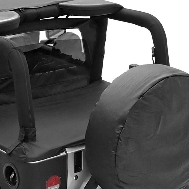 Fits 97-06 Jeep Wrangler Black Tonneau Duster Deck Cover