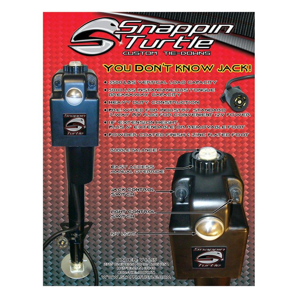 Snappin Turtle® V4655 - 3500 lb Power Tongue Jack