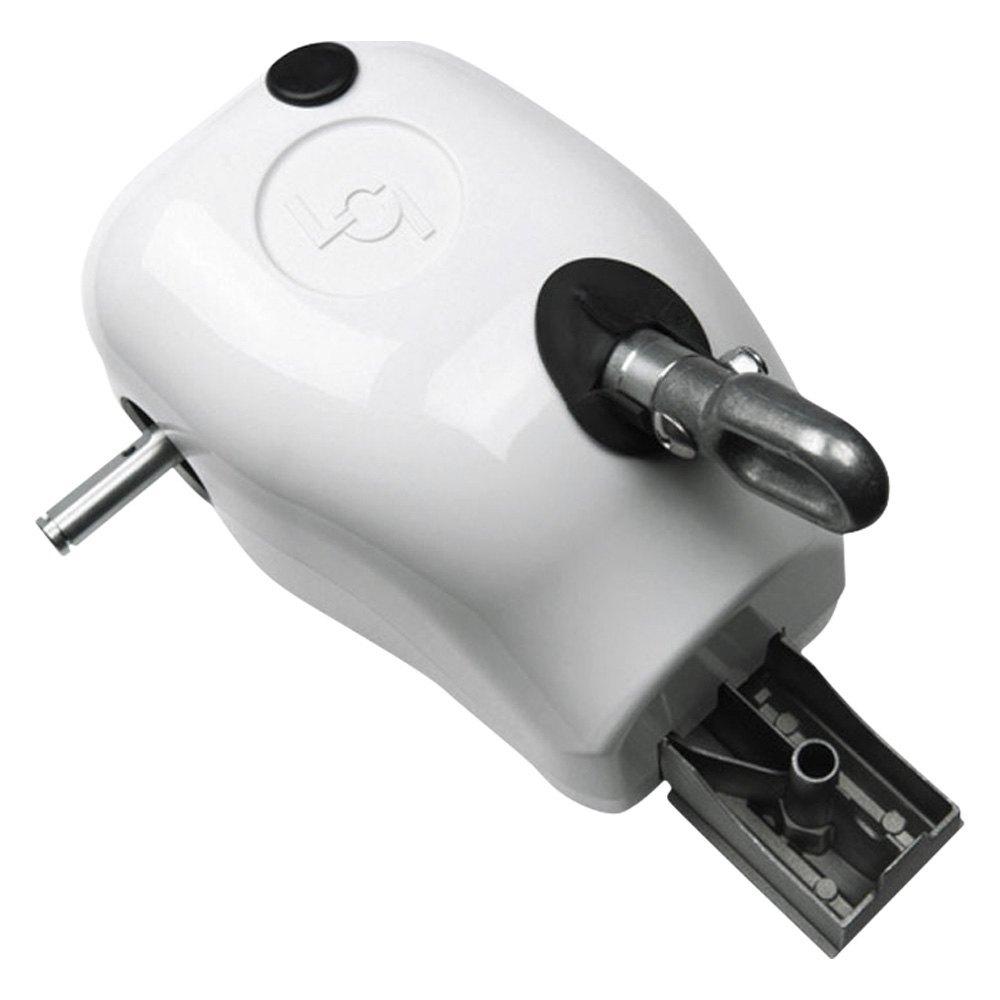 Solera Awnings® 300029 - White Manual Crank Style Awning ...