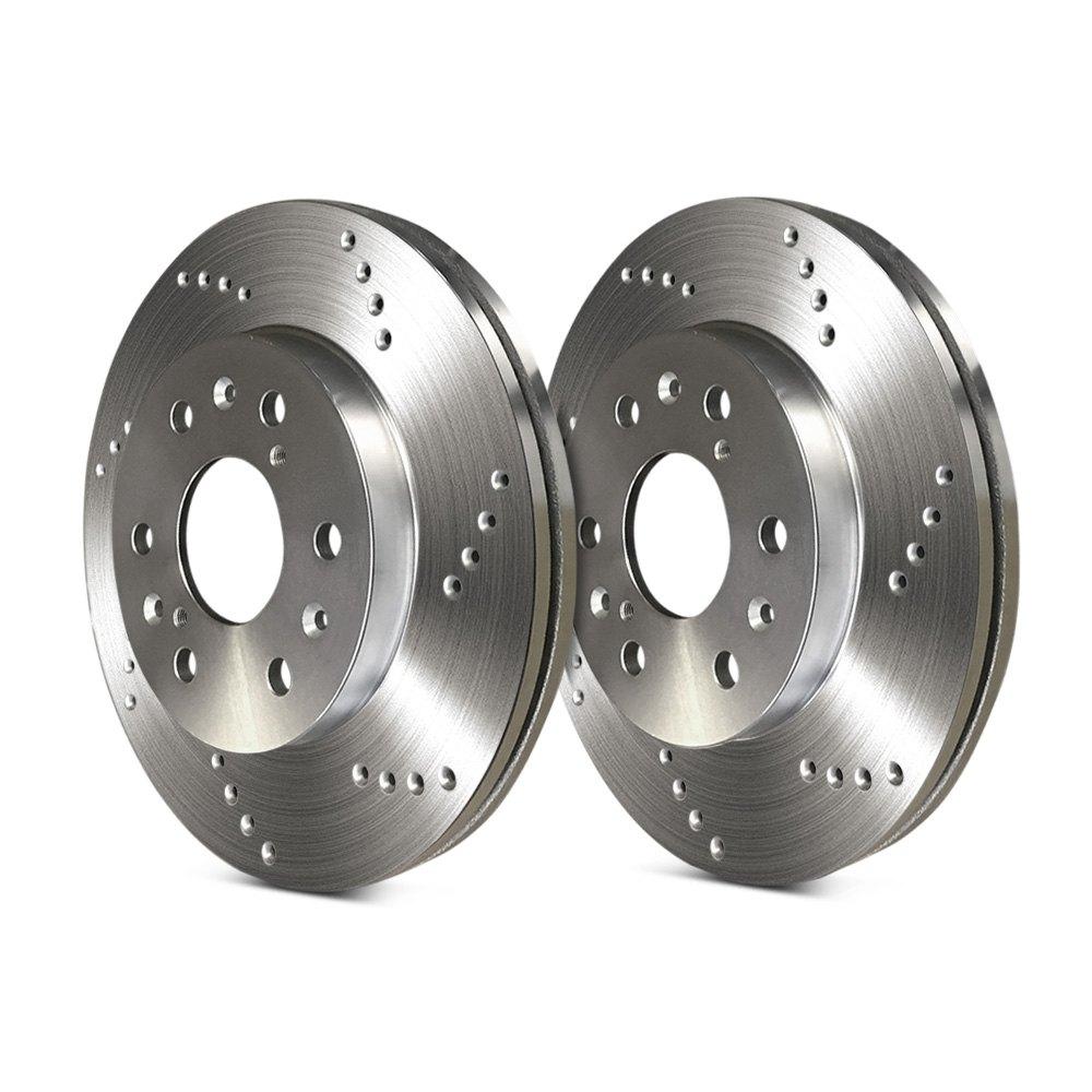 Cross Drilled Rotors >> Sp Performance Cross Drilled 1 Piece Rear Brake Rotors