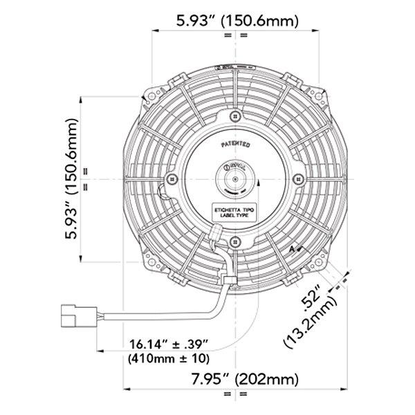 spal automotive® low profile puller fan straight blades 12v low profile puller fan straight blades 12vspal automotive® 14 low profile puller fan straight blades 12vspal automotive® 9 low profile