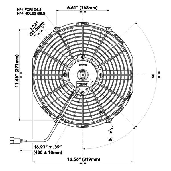 Spal Automotive 30100375 12 Low Profile Puller Fan W Straight