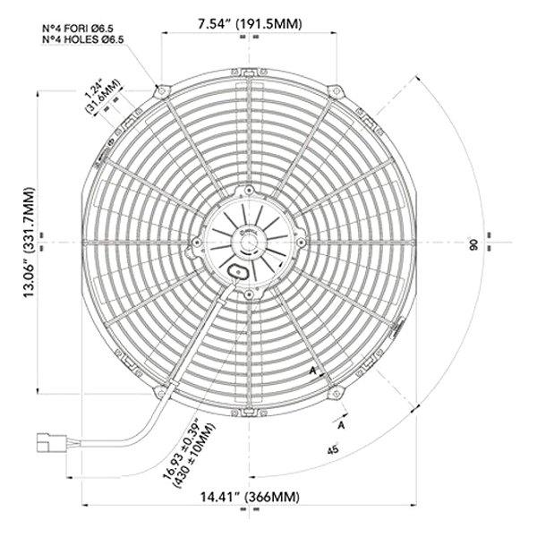 spal automotive high performance puller fan with straight blades 12v rh carid com