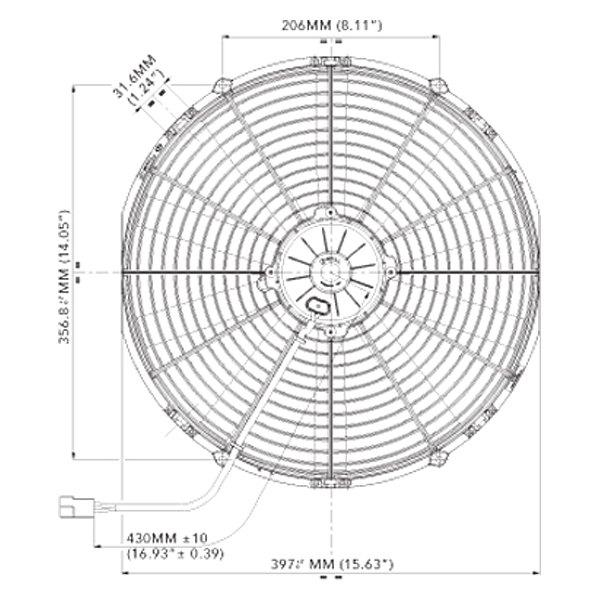 spal automotive 30102120 16 high performance puller fan with rh carid com