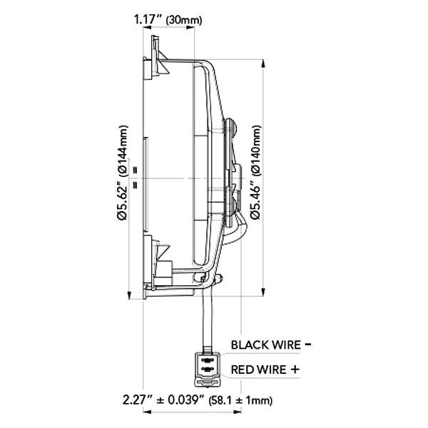 spal automotive® 30103013 5 2 low profile pusher fan 12v spal automotive® universal 5 2 low profile pusher fan paddle blades