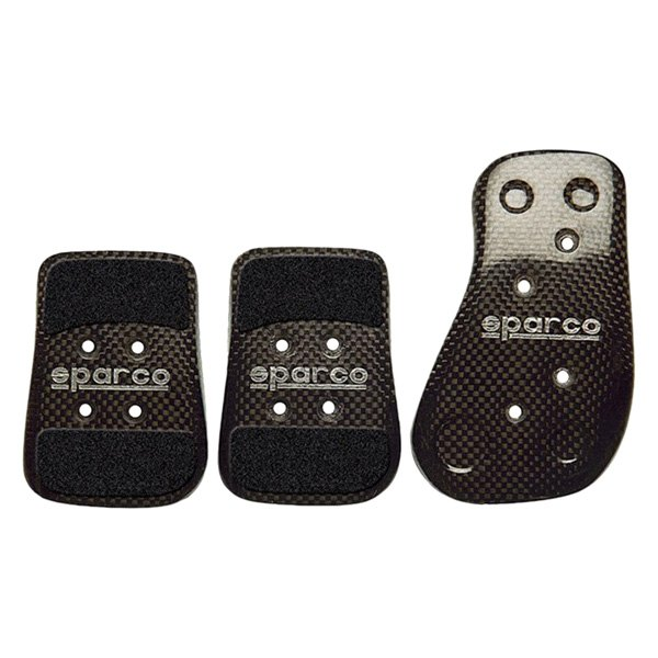 What Tires Fit My Car >> Sparco® 03783L - Carbon Series Manual Gear Racing Pedal Set, Shaped Short, Black