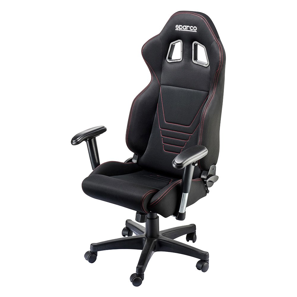sparco r100 series office seat black red leather sparco
