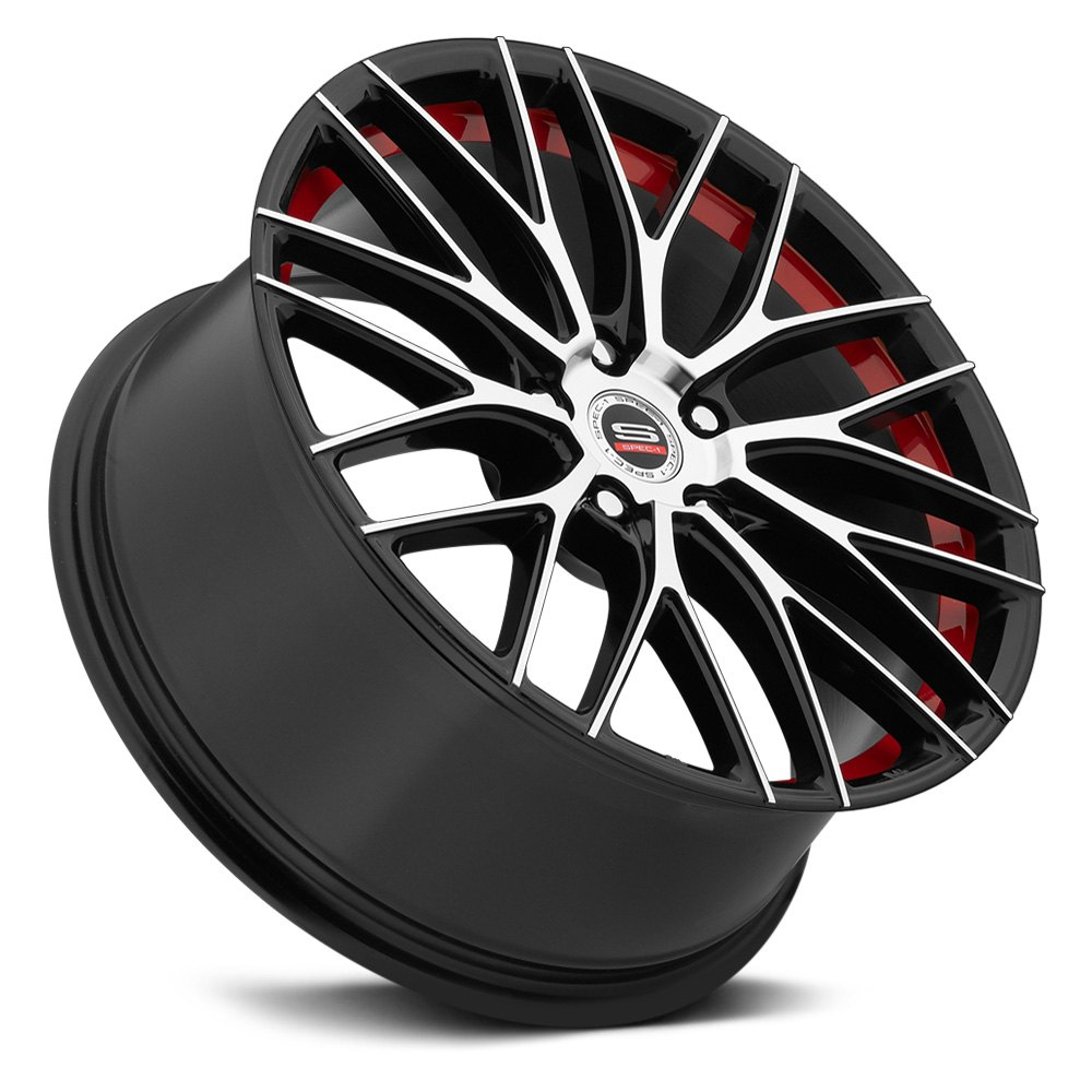 Spec 1 174 Sp 17 Wheels Gloss Black With Machined Face And