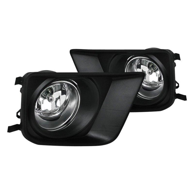 spec d toyota tacoma 2012 chrome oem style fog lights. Black Bedroom Furniture Sets. Home Design Ideas