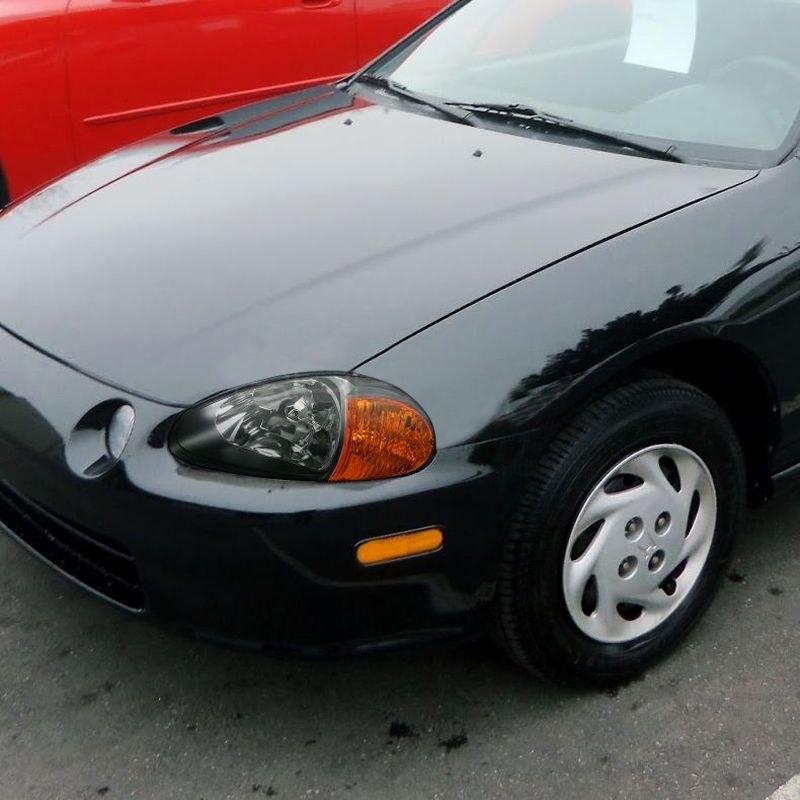 Honda Del Sol 1995 Black Euro Headlights