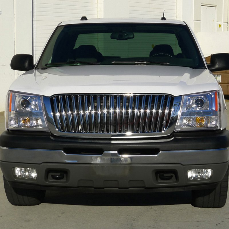 spec d chevy avalanche without body cladding 2002 2006 chrome projector headlights with. Black Bedroom Furniture Sets. Home Design Ideas