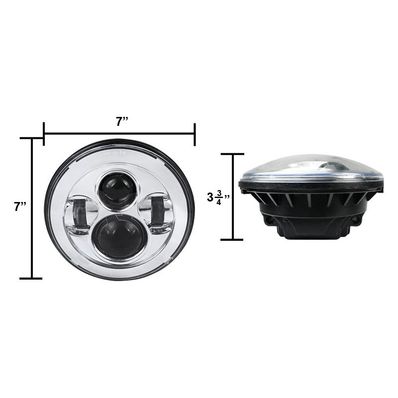 spec d jeep wrangler 2014 7 round chrome projector led headlight. Cars Review. Best American Auto & Cars Review