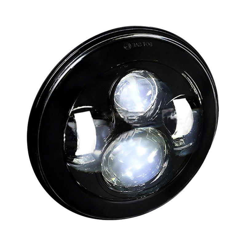 spec d lhp 7rndjm ms 7 round black projector led headlight. Black Bedroom Furniture Sets. Home Design Ideas