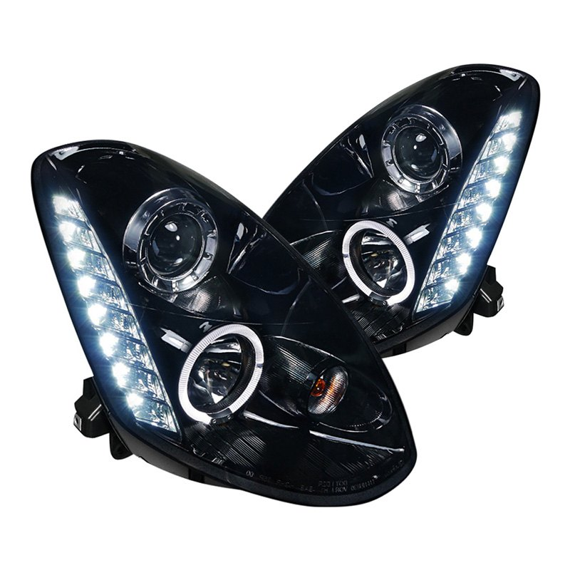 Spec-d U00ae  Xenon Headlights 2006 Black  Smoke Halo Projector
