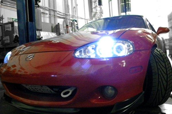 Miata Halo Headlights Halo Projector Headlights