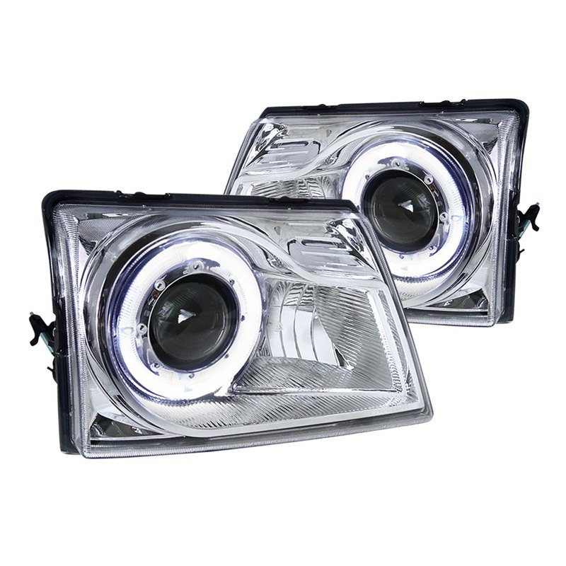 98 Ford Ranger Headlamp : Spec d ford ranger chrome clear halo projector