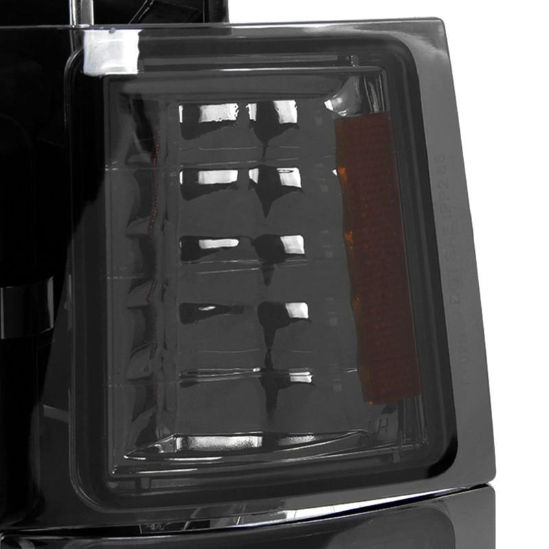 Spec-D Tuning 2LBCLH-C1094G-TM Headlight Smoked Euro With Bumper And Corner Light